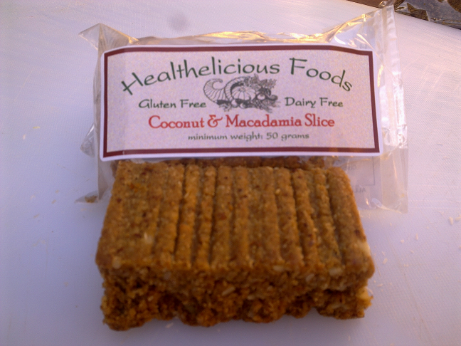 Coconut and Macadamia Slice